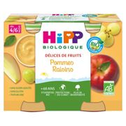 Hipp Fruit Delights Apple Grapes + 4-6m 2x190g