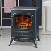 Homcom Electric Fireplace with Log Flame Effect