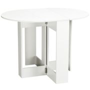 HOMCOM Folding Drop Leaf Dining Table Foldable Bar Table for Small Kitchen