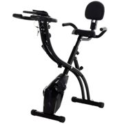 HOMCOM Folding Upright Exercise Bike Recumbent Cycling Magnetic w/Band
