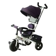 HOMCOM Kids Ride-on Tricycle with Sun Canopy, Parent Handle