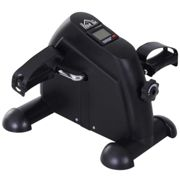 HOMCOM Mini Exercise Bike Portable Pedal Manual Machine Indoor Fitness Black