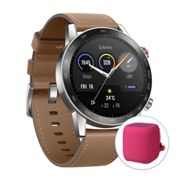 HONOR MagicWatch 2 46mm Flax Brown free gift with bluethooth earphones