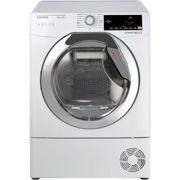 Hoover Dynamic Next DXHY10A2TCE 10Kg Heat Pump Tumble Dryer - White / Chrome - A++ Rated