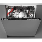 Hoover H-DISH 300 HDIN2L360PB Wifi Connected Fully Integrated Standard Dishwasher - Black Control Panel with Sliding Door Fixing Kit