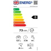 Hoover H3W58TGGE Washing Machine in Graphite 1500rpm 8Kg A Rated