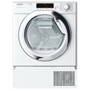 Hoover HTDBW H7A1TCE Integrated Heat Pump Tumble Dryer with NFC, 7kg Load, A+ Energy Rating, White