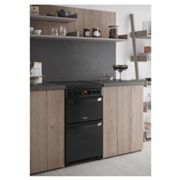 Hotpoint HD5V93CCB 50cm Electric Cooker in Black Double Oven Ceramic H
