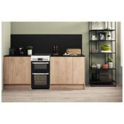 Hotpoint HD5V93CCW 50cm Electric Cooker in White Double Oven Ceramic H