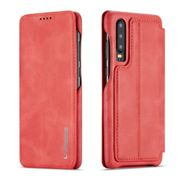 Huawei Lux Leather Flip Case Cover - Red - P30 Lite