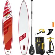 Bestway Hydro Force Fastblast Tech SUP Stand Up Paddleboard Set Red 12 ft 6 Inch