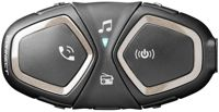 Interphone Connect Bluetooth Communication System Single Pack, black