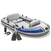 Intex Excursion 4 Set Inflatable Boat with Oars and Pump 68324NP