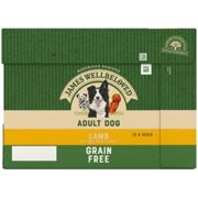 James Wellbeloved Adult Grain Free Lamb and Vegetable Dog Food - Wet - 12 x 100g Pouches