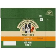 James Wellbeloved Adult Grain Free Turkey and Vegetable Dog Food - Wet - 12 x 100g Pouches