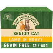 James Wellbeloved Grain Free Lamb Senior Cat Pouches