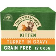 James Wellbeloved Grain Free Turkey Kitten Pouches