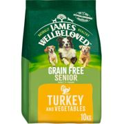 James Wellbeloved Grain Free Senior Turkey & Veg Dry Dog Food 10kg