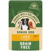 James Wellbeloved Senior Grain Free Lamb Dog Food - Wet - 12 x 100g Pouches