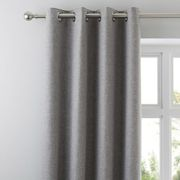 Jennings Grey Thermal Eyelet Curtains Grey