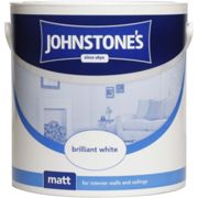 Johnstones 2.5l Matt Emulsion Paint, Pure Brilliant White