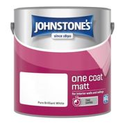 Johnstones One Coat Matt Wall Ceiling Emulsion Paint 2.5l Pure Brilliant White