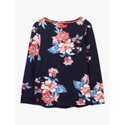 Joules Harbour Floral Top, Navy