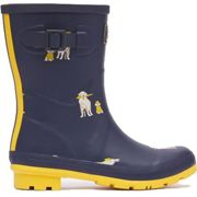Joules Womens Molly Welly Short Wellington Boots Wellies - Raindogs - UK 5