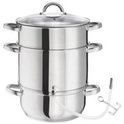 Juicer, steamer - stainless steel AISI 430 - silver