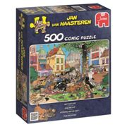Jumbo 17277 Jan Van Haasteren - Get That Cat Jigsaw Puzzle (500 Pieces)