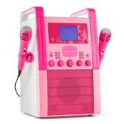 KA8P-V2 PK Karaoke Machine CD Player with Microphones Pink