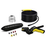 Karcher Gutter and Pipe / Drain Cleaning Accessory Kit for K Pressure Washers 20m
