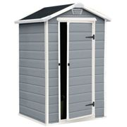 Keter Manor 4 x 3' Grey Plastic Storage Shed   Grey Garden Shed