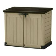 Keter Store It Out Max 1200L Outdoor Garden Storage Shed Beige Brown