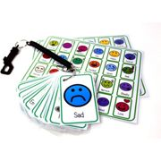 kids2learn Feelings and Emotions Flash Card Pack - Special Needs Autism Cue Card & Bungee Set for carers schools senco
