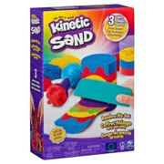 Spin Master Kinetic Sand, Rainbow Mix Set with 3 Colors of Kinetic Sand (13.5oz) and 6 Tools, for kids aged 3 and up, Play sand Kinetic Sand , Rainbow Mix Set with 3 Colors of (13.5oz) and 6 Tools, for kids aged 3 and up, Multicolor, 3 yr(s), Boy/Girl, Indoor/outdoor, France, Not for children under 36 months