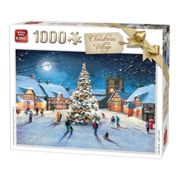 Kng05610 - King Puzzle Christmas 1000 Pc - Christmas Village
