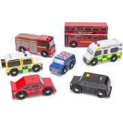 Le Toy Van - Iconic Wooden London Themed Toy Car Play Set - Set 7 Pieces   Play Vehicle Role Play Toys - Suitable For 2 Year Old +