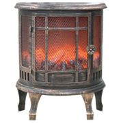 LED Fireplace Ornament - Flicker Flame-Effect Retro Electric Fire Place & Handle