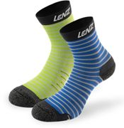 Lenz 1.0 Outdoor Kids Socks, green-blue, size 27 28 29 30