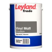 Leyland 5L Vinyl Matt Emulsion Paint, Pure Brilliant White