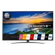 LG 49NANO866NA (2020) LED HDR NanoCell 4K Ultra HD Smart TV, 49 inch with Freeview HD/Freesat HD, Dolby Atmos & Crescent Stand, Light Black