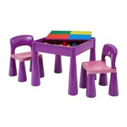 Liberty House Toys Kids Multifunctional Table and Chair, Purple