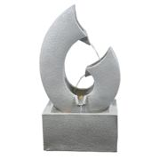 (Lion Fountain) Freestanding LED Water Fountain | Small Garden Fountain with LED Lights