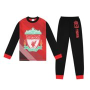 Liverpool FC Boys Pyjamas Long Sublimation Kids OFFICIAL Football Gift Red 11-12 Years