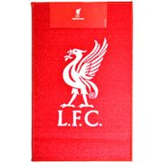 Liverpool FC Official Printed Football Crest Rug (One Size) (Red/White)