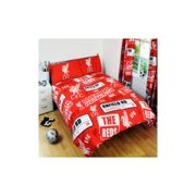Liverpool Official Patch Double Duvet Cover Set - Red - Football Fc New Bedding - duvet cover football liverpool fc double set new patch bedding
