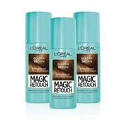 L'Oreal Magic Retouch Golden Brown Temporary Instant Grey Root Concealer Spray Triple Pack - 3x75ml