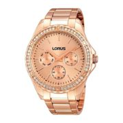 Lorus RP650BX9 Rose Gold Stainless Steel Strap Ladies Watch Stainless Steel/Rose Gold