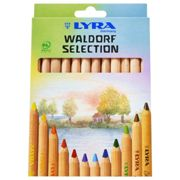 Lyra Super Ferby Pencils, Assorted Unpainted 12 Farbstifte Waldorf Selection